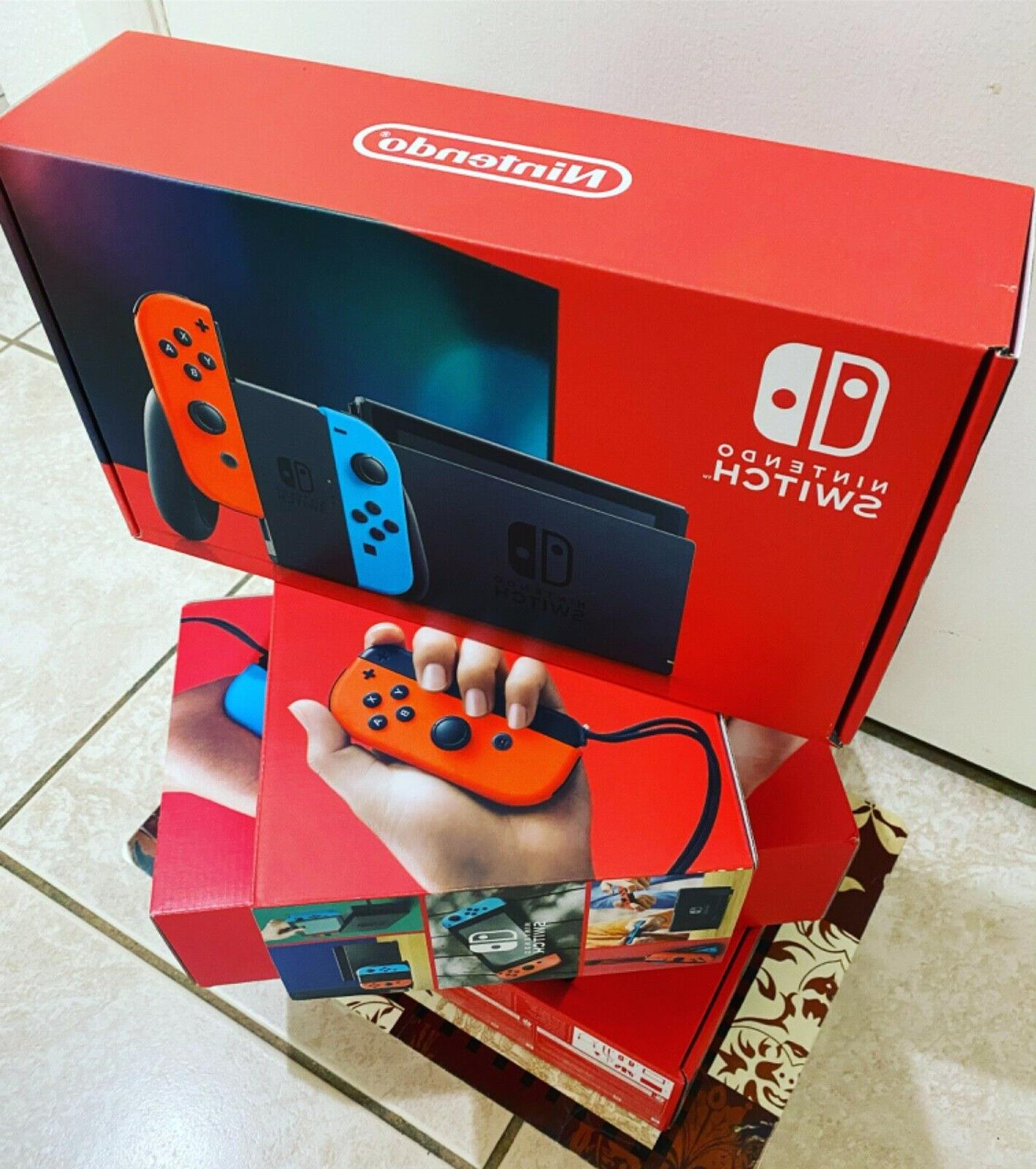 Nintendo Switch Red/Blue Gray Animal