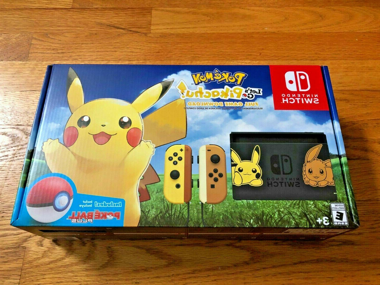 switch console pikachu and eevee edition pokemon