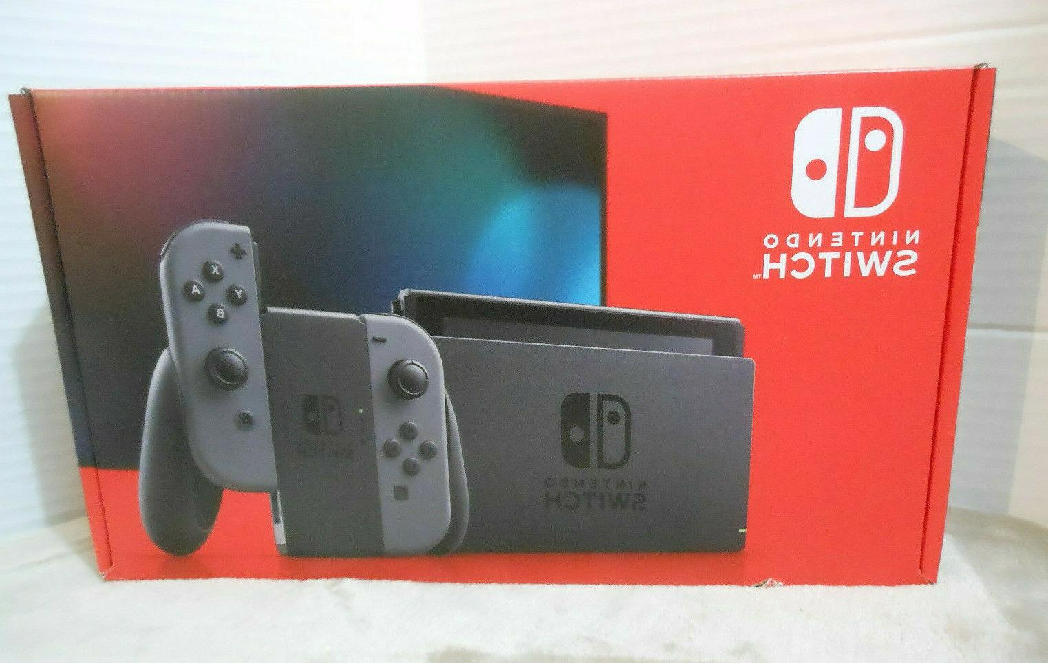 switch handheld console with gray joy con