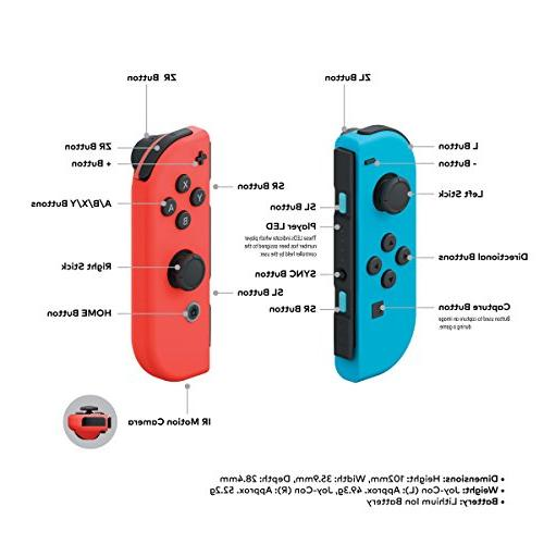 Nintendo Red and Neon Joy-Con