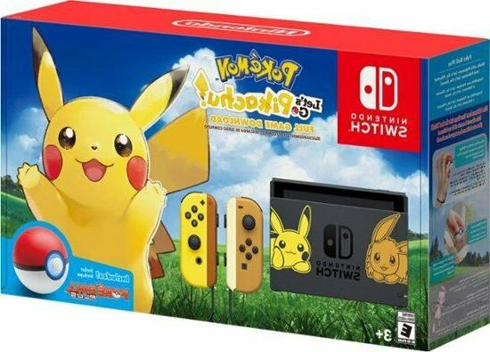 switch pikachu and eevee edition with pokemon
