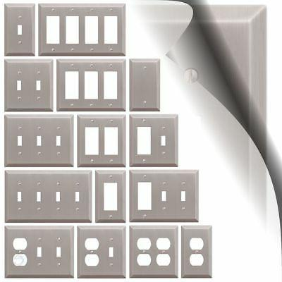 switch plate cover century brushed nickel metal