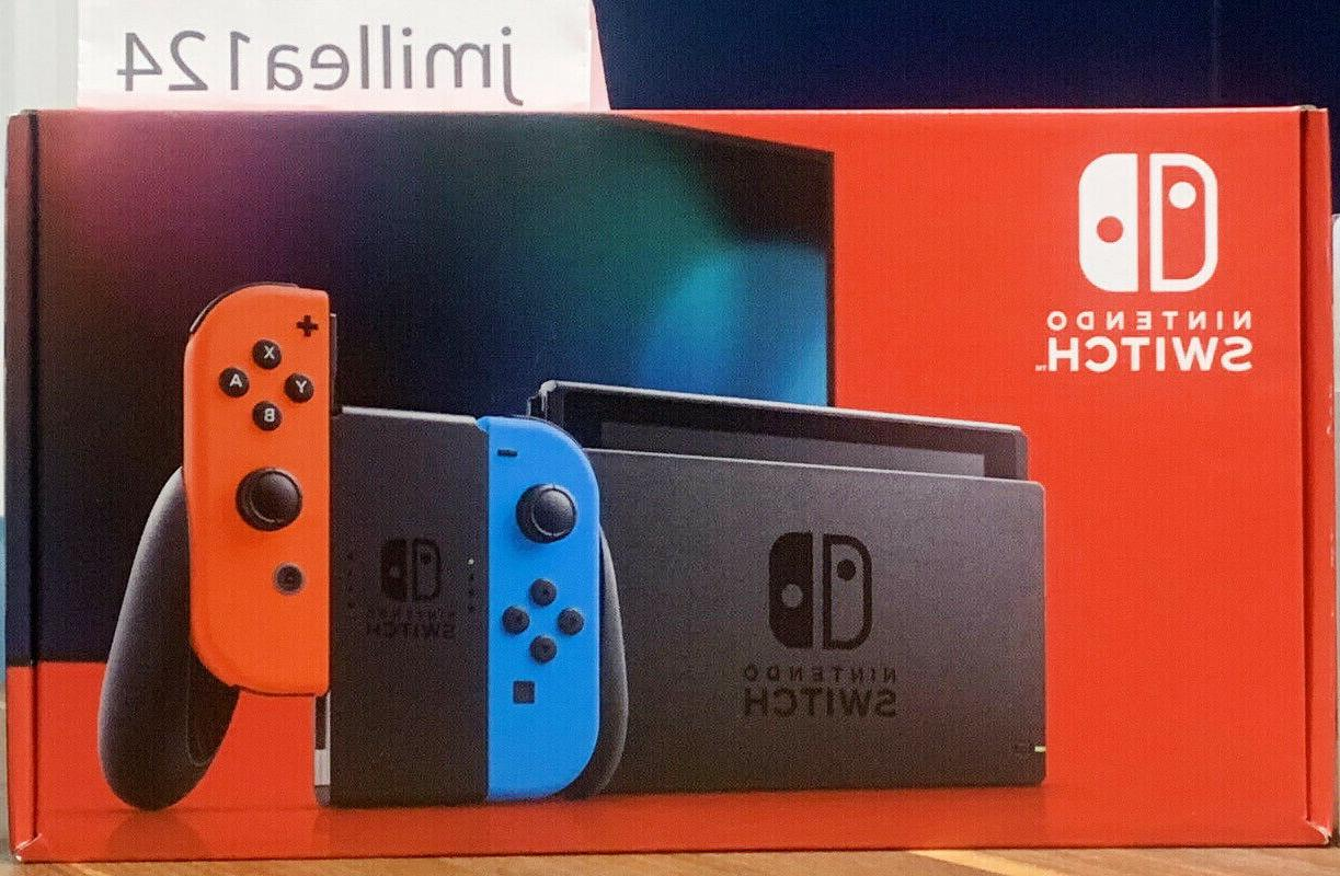 switch w neon blue and red joycon