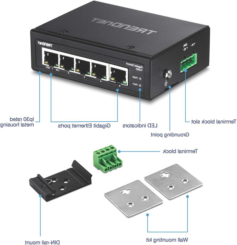 Trendnet 5-Port Gigabit Switch, Gbps Switchin...