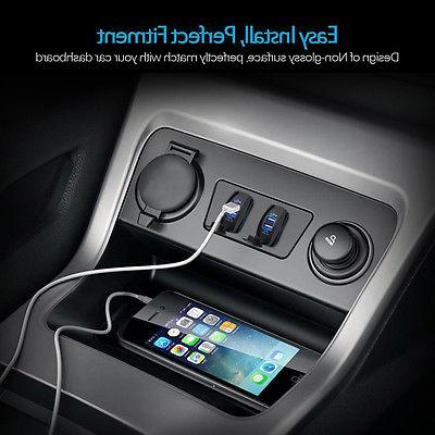MICTUNING Universal Dual Charger Power Socket For Rocker