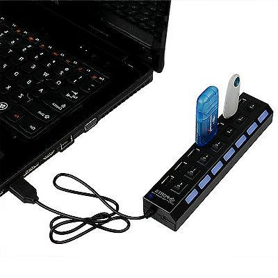 7-Port USB Charger Hub Adapter Laptop