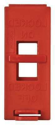 Wall Switch Lockout,Red,9/32 In. Dia. BRADY 65392