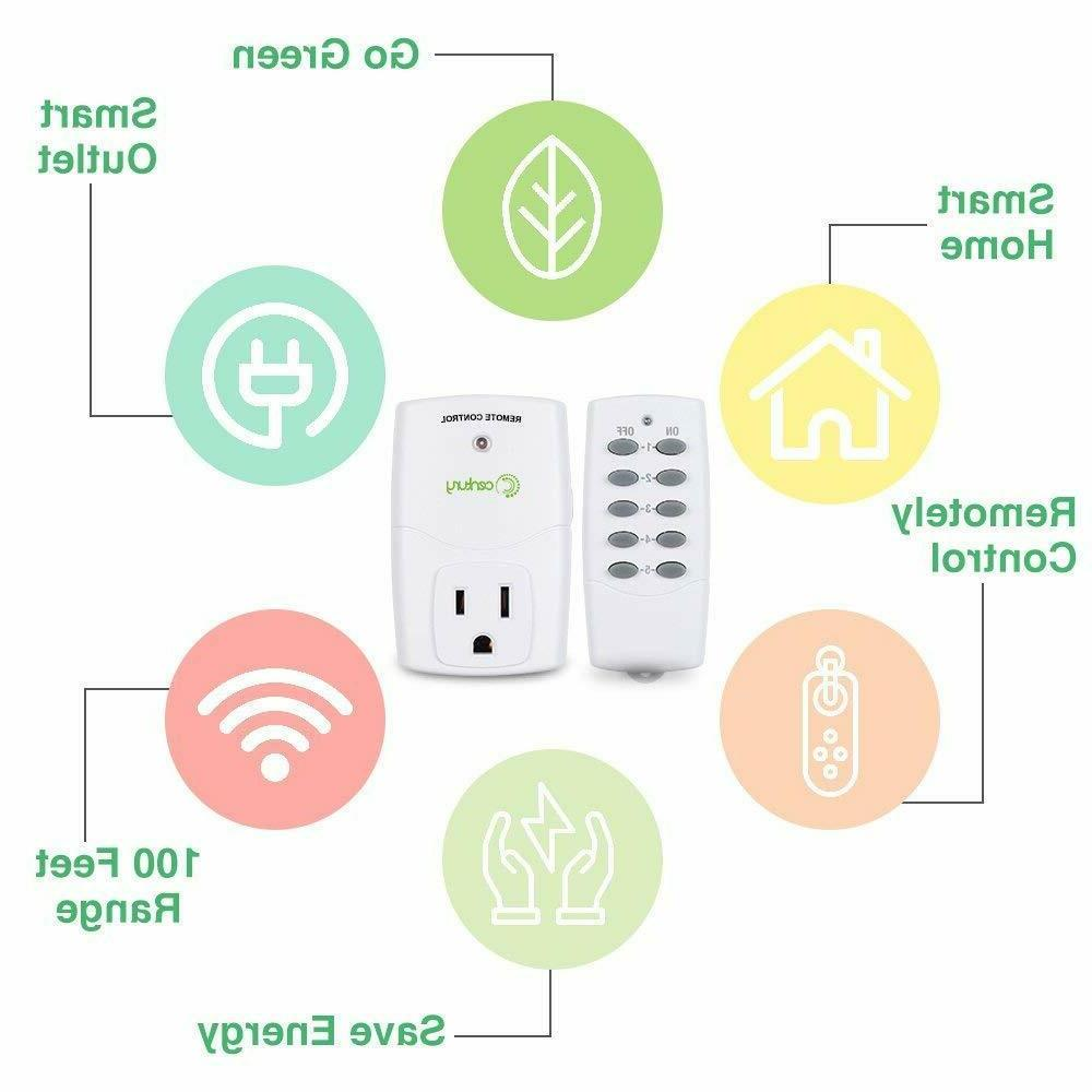 Wireless Remote Control Outlet Switch Power Plug In-Compact