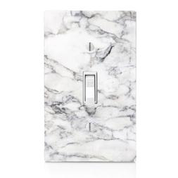 Light Switch Plate Cover With White Marble Wall Plate Single