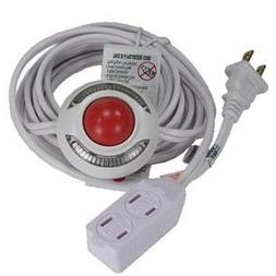 Otimo Lighted Foot Switch with 9 Ft Power Cord - 3-Outlet Ex
