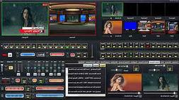 Live Streaming Software with Video switcher mixer green scre