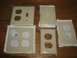 lot of 5 Almond Switch Plates Switch Cover Plug Wall Plates