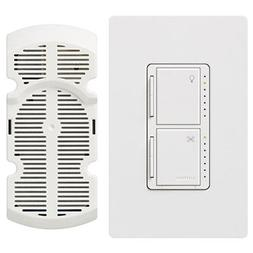 Lutron MA-LFQHW-WH Maestro Fan Control and Dimmer Kit, White
