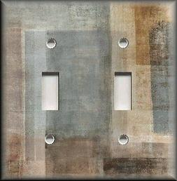 Metal Light Switch Plate Cover - Abstract Art Modern Decor G