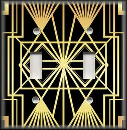 Metal Light Switch Plate Cover Art Deco Home Decor Black And