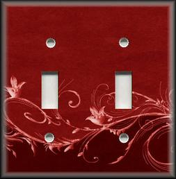 Metal Light Switch Plate Cover - Flourish Ombre Swirl Home D
