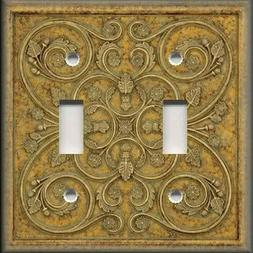 Metal Light Switch Plate Cover - Home Decor - French Pattern