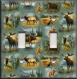 Metal Light Switch Plate Cover - Wild Game  Rustic Hunting H