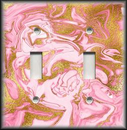 Metal Light Switch Plate Covers Marble Stone Design Home Dec