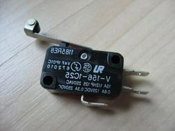 """Omron Micro Limit Switch with 1"""" Roller Lever V-156-1C25 15A"""