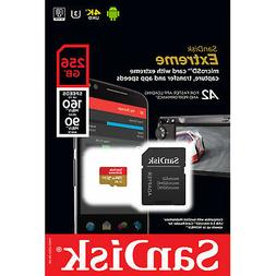 SanDisk 256GB Extreme microSD UHS-I Card with Adapter - U3 A