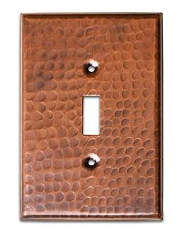 Monarch Pure Copper Hammered Single Wall Plate / Switch Plat