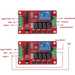Multifunctional 12V DC Self-lock Relay PLC Cycle Timer Modul