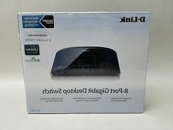 New D-Link DGS-1008G 8-Port Gigabit Desktop Switch