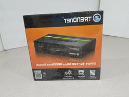 New In Package TRENDnet 5-Port 10/100 Mbps GREENet Switch TE