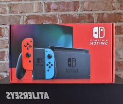 NEW Nintendo Switch 32GB Gray Console with Neon Red and Neon