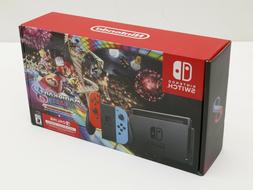 NEW NINTENDO SWITCH BUNDLE Neon Blue and Red Joy-Con V2 w/ M