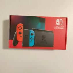New Nintendo Switch Console 32GB Neon Red Blue Joy-Cons IN H