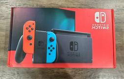 NEW Nintendo Switch Console - Black with Neon Blue and Neon