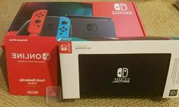 NEW Nintendo Switch V2 Console Bundle NEW  12 Month Family P