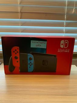 NEW Nintendo Switch V2 Console with Neon Red/Blue Joy-Con SH