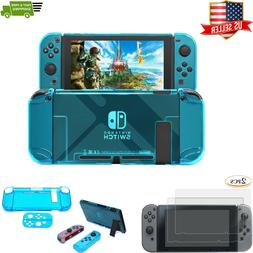 Nintendo Switch 2pc Screen Protector with Hard Shell Blue Co