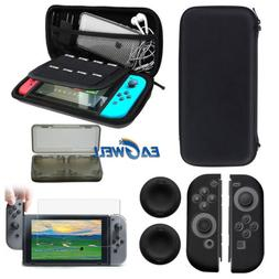 For Nintendo Switch 5in1 carry bag+Glass Film+Card Box+Cap c