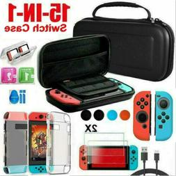 For Nintendo Switch Case Bag+Shell Cover+Charging Cable+Prot