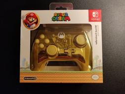 Nintendo Switch Gold Chrome Super Mario Wired Controller LIM