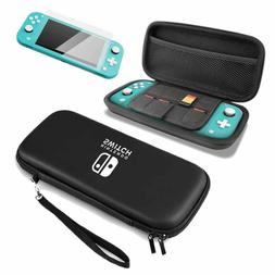 For Nintendo Switch Lite Accessories Hard Case Bag + Glass S