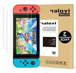 Nintendo Switch Screen Protector Tempered Glass, iVoler Tra
