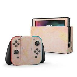 Nintendo Switch Skin - Rose Gold Marble - Decal Sticker Deca