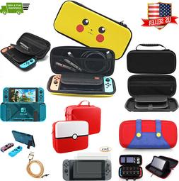 Nintendo Switch Travel Carrying Case Mario / Pikachu Pokemon