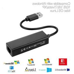 For Nintendo Switch Wii PC/MAC OS 1000Mbps USB 3.0 LAN Adapt