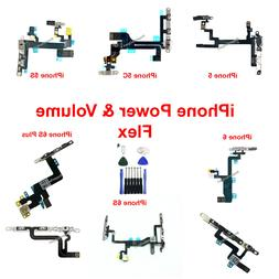 OEM Power Volume Switch Button Flex Cable w Bracket For iPho