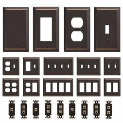 Oil Rubbed Bronze Wall Switch Plate Outlet Cover Toggle Rock