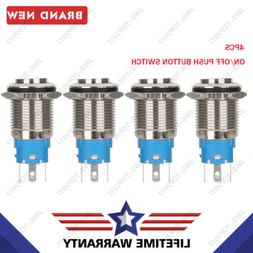 ON/OFF Push Button Switch Led 16mm 12V Angel Eye Steel 4 Col