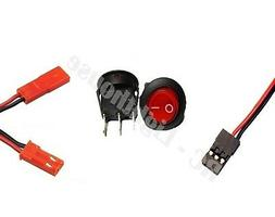 Plug and Switch Combo Package #6 JR- JST- Rocker Switch- for