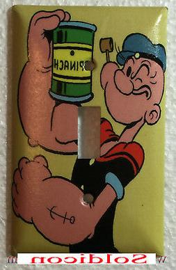 Popeye with Spinach Comic Light Switch Power Outlet Wall Cov
