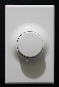 Push ON/OFF Switch Rotary Light Dimmer with Wall Plate - LED